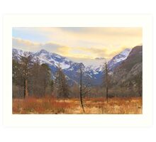 Rocky Mountain Wilderness Sunset View Art Print