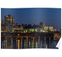 City scape at night Poster