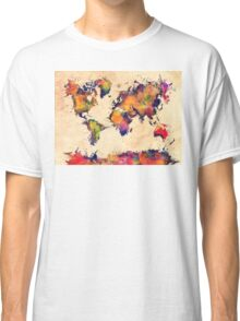 World map watercolor 3 Classic T-Shirt