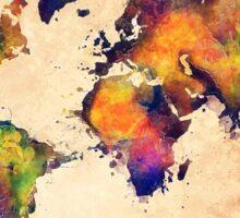 World map watercolor 3 Sticker