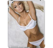 sexy nude erotic glamour blond girl model iPad Case/Skin