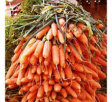 Carrots at the Market Photographic Print