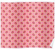 Pink Grapefruit Pattern Poster