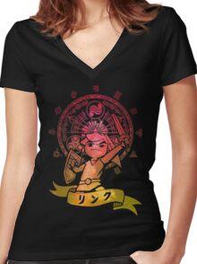 Legendary Hero II Women's Fitted V-Neck T-Shirt