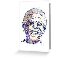 Nelson Mandela Illustration Greeting Card