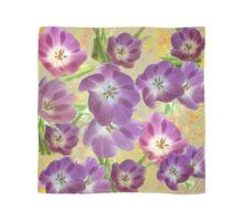 Vintage Purple Flowers on Yellow  Scarf