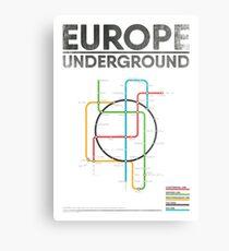 Underground Map: Metal Prints | Redbubble