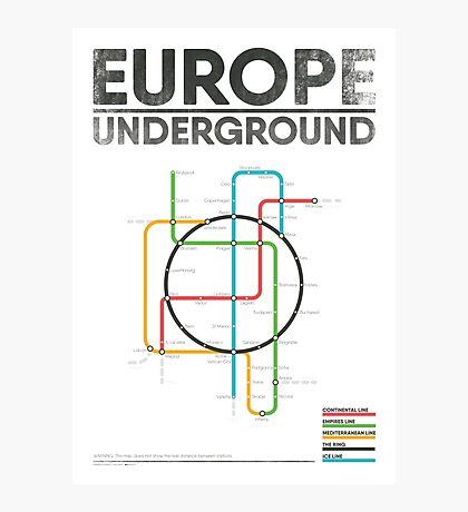 EUROPE UNDERGROUND Photographic Print