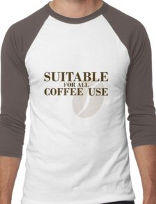 Suitable for all coffee use Men's Baseball ¾ T-Shirt