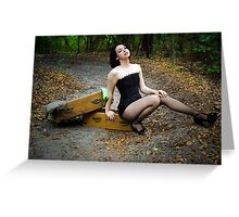 Outdoor indoor pinup Greeting Card