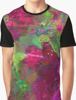 Fusion In Pink And Green Graphic T-Shirt