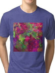 Fusion In Pink And Green Tri-blend T-Shirt