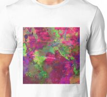Fusion In Pink And Green Unisex T-Shirt