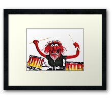Animal Drummer Framed Print
