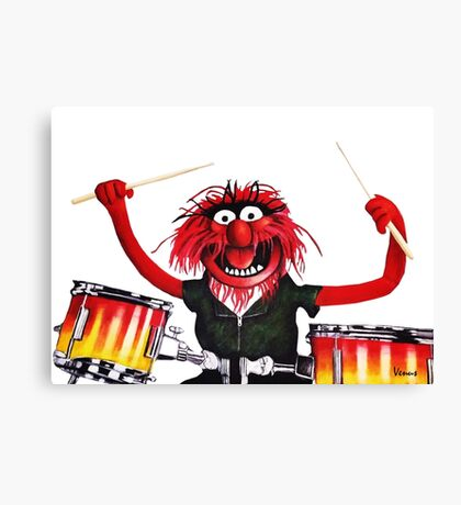 Animal Drummer Canvas Print