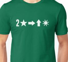 Second Star to the Right & Straight on til Morning in white Unisex T-Shirt