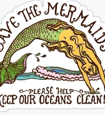 Save the Mermaids Sticker