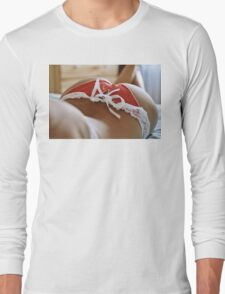 sexy nude erotic glamour girl model 4 Long Sleeve T-Shirt