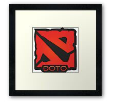 Dota 2 Orange. Framed Print