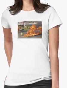 Thích Quảng Đức Blur Womens Fitted T-Shirt