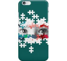 Eyes puzzle color iPhone Case/Skin