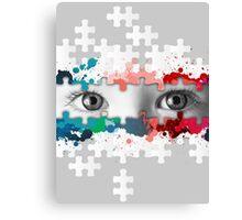 Eyes puzzle color Canvas Print