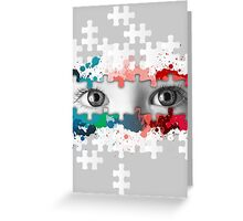 Eyes puzzle color Greeting Card