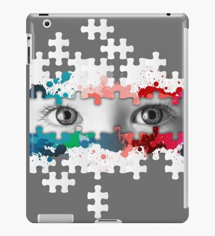 Eyes puzzle color iPad Case/Skin