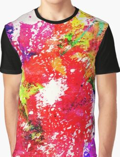 Expression Of Colour - Abstract In Rainbow Colours Graphic T-Shirt