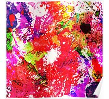 Expression Of Colour - Abstract In Rainbow Colours Poster