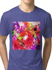 Expression Of Colour - Abstract In Rainbow Colours Tri-blend T-Shirt