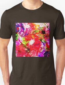 Expression Of Colour - Abstract In Rainbow Colours Unisex T-Shirt