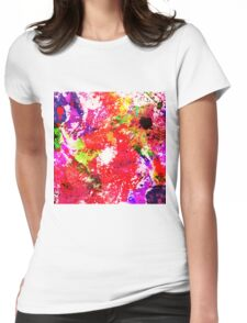 Expression Of Colour - Abstract In Rainbow Colours Womens Fitted T-Shirt