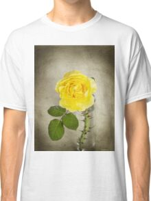 Single Yellow Rose with Thorns Classic T-Shirt