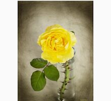 Single Yellow Rose with Thorns Unisex T-Shirt