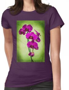 Orchid in Green Womens Fitted T-Shirt