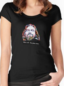 Yeah, well - The Dude abides. Women's Fitted Scoop T-Shirt