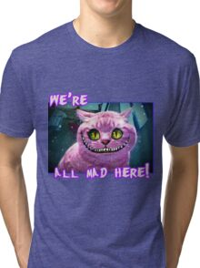 We're All Mad Here! Tri-blend T-Shirt