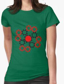 arrangement rotate gears machine mechanical clockwork cool star Womens Fitted T-Shirt