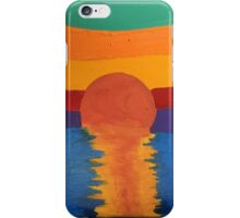 This is a painting I did not to long ago of a sunset. iPhone Case/Skin