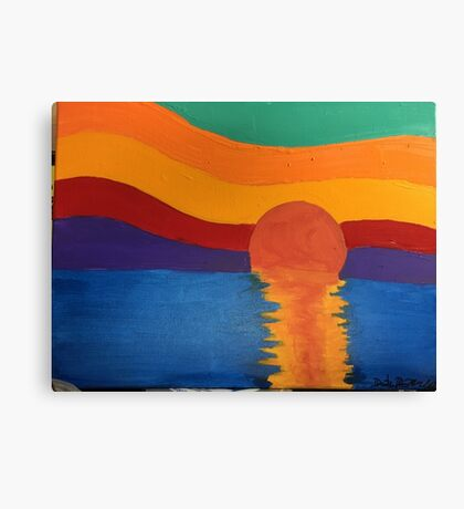 This is a painting I did not to long ago of a sunset. Canvas Print