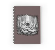 There's a rose b/w Spiral Notebook