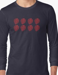Valentine Heart 8 Red  Long Sleeve T-Shirt