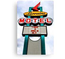 Lorraine Motel Canvas Print