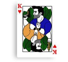 Nathan Drake Face Card Canvas Print