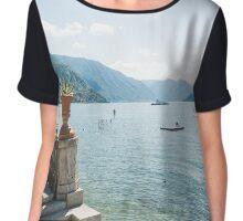 Lake Como with Steps Chiffon Top