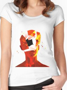SUPERHOT Women's Fitted Scoop T-Shirt