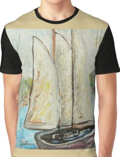 On a Cloudy Day - Impressionist View Graphic T-Shirt