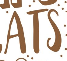 NAPS and CATS and COFFEE Sticker