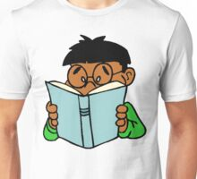 Black Asian Kid Reading Unisex T-Shirt